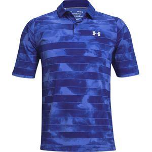 Ua Iso-Chill Fog Stripe Polo-Blu