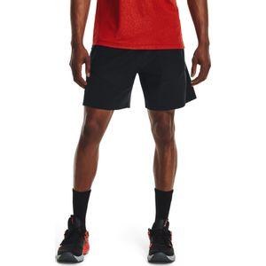 Ua Knit Woven Hybrid Shorts-Blk